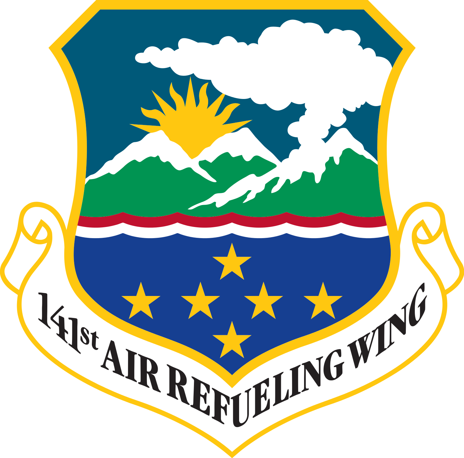 141st Air Refueling Wing Military Flag Military Insignia Air Force Patches