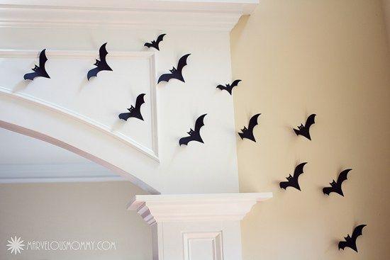Paper Bats For Decorations Halloween Diy Halloween