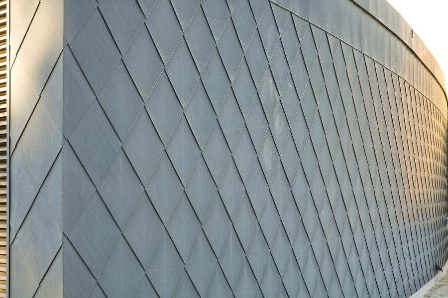 Vmzinc Flat Lock Panel In Quartz Zinc Gilbertson Photography Metal Facade Facade Metal Shingles