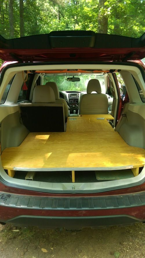 09 13 rear sleeping platform subaru forester owners forum rh pinterest com