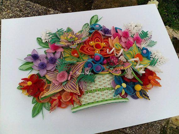 Oriental fiori / regalo per coppia / mixed di bmileticquilling