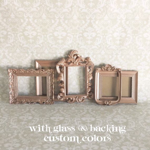 Rose Gold PICTURE FRAMES - Vintage style - shabby chic wedding - 5 ...
