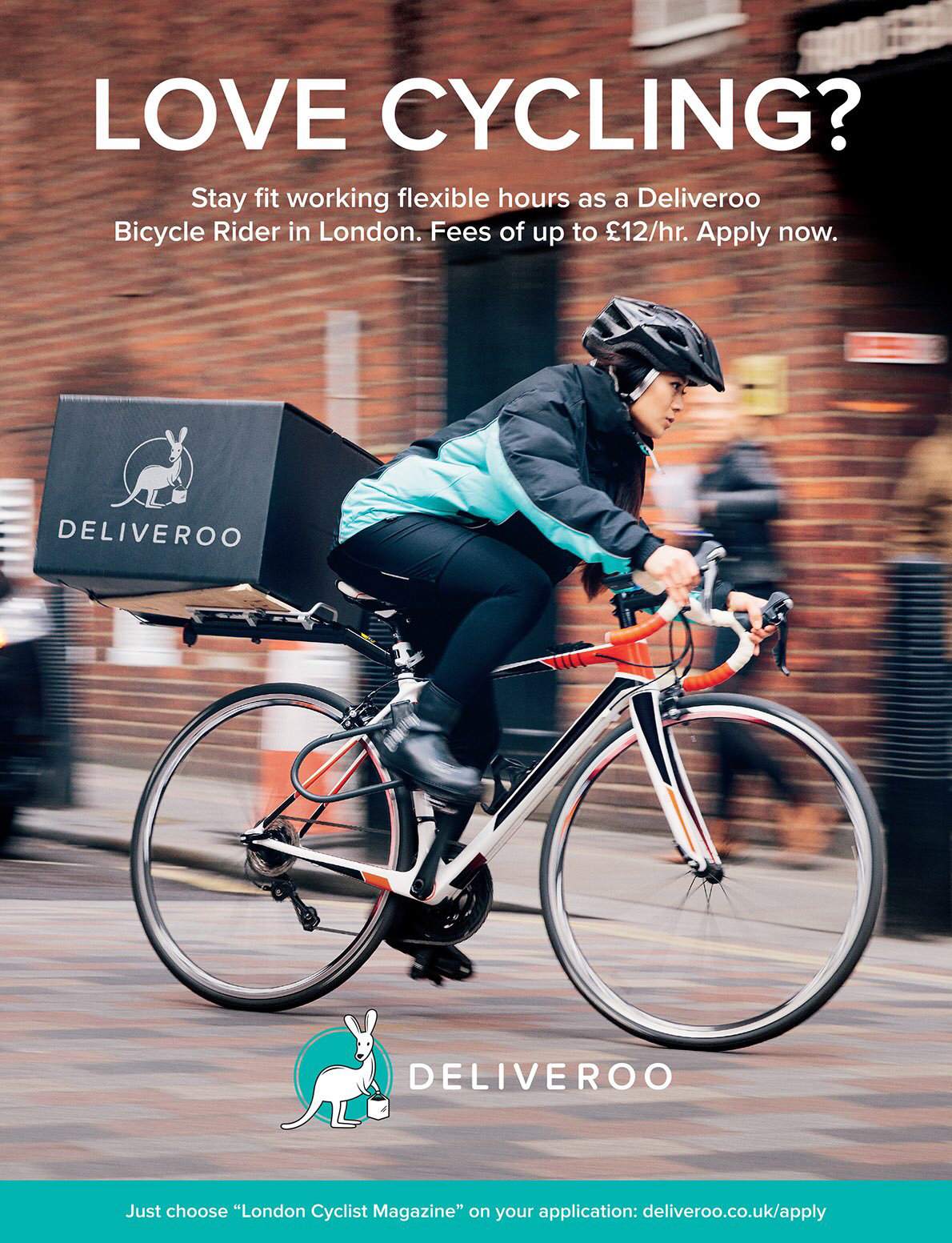 Deliveroo Food Delivery Bike Stay Fit Tshirt Design Inspiration