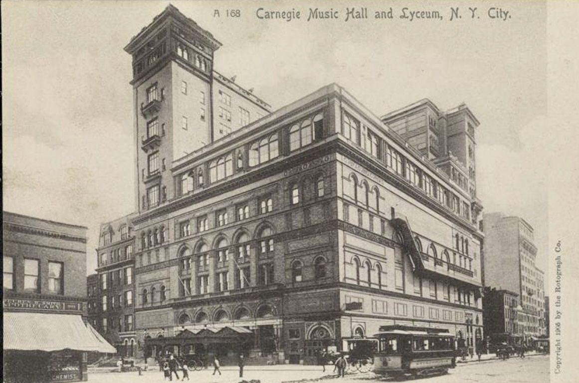Carnegie Music Hall And Lyceum 57th Street 7th Avenue 1905 From The