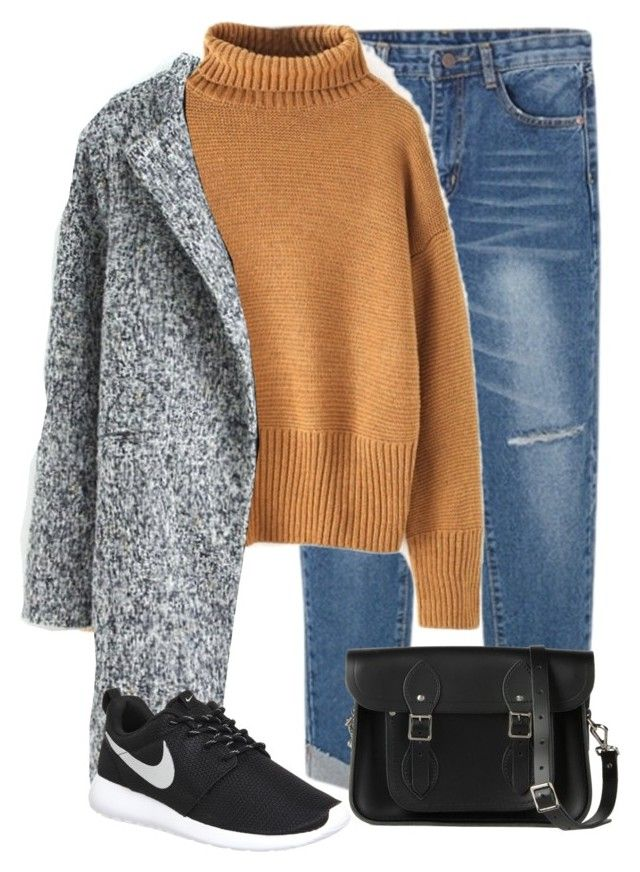 """Beautiful Halo #12"" by maevaxstyle ❤ liked on Polyvore featuring WithChic, NIKE, The Cambridge Satchel Company and beautifulhalo"