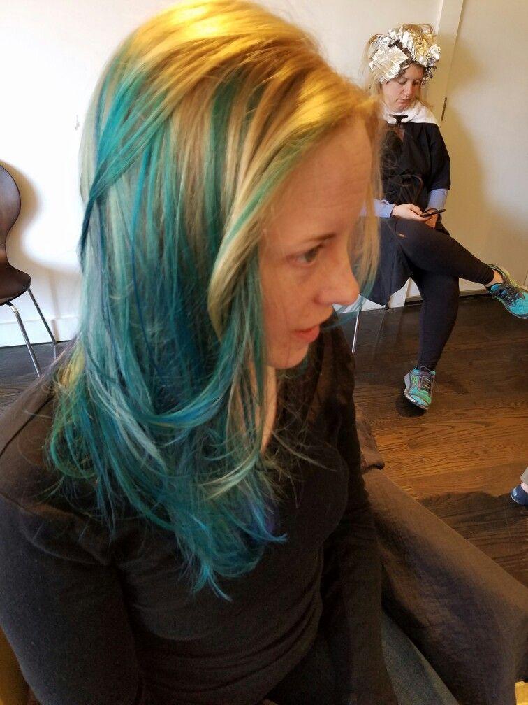 More genius color play by Sara at Revive in Boston