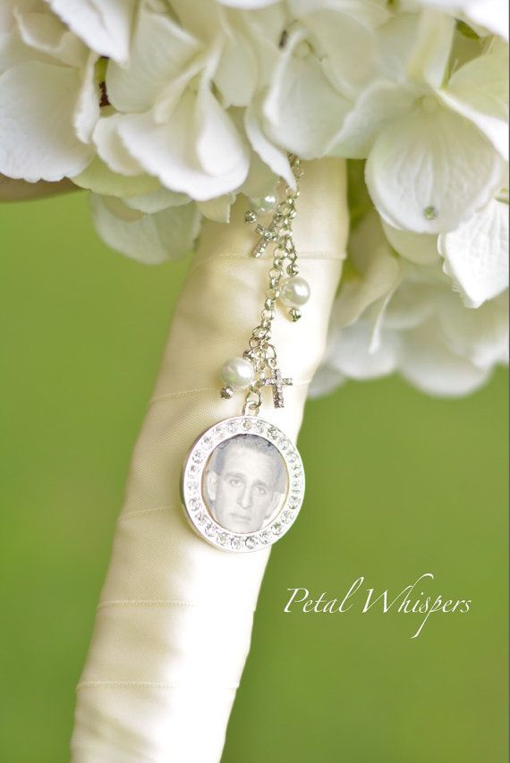Double bouquet charm Bridal Shower Gift Photo Charm Memorial Photo Charm Bridal Bouquet Charm Gift for the bride Wedding Bouquet charm