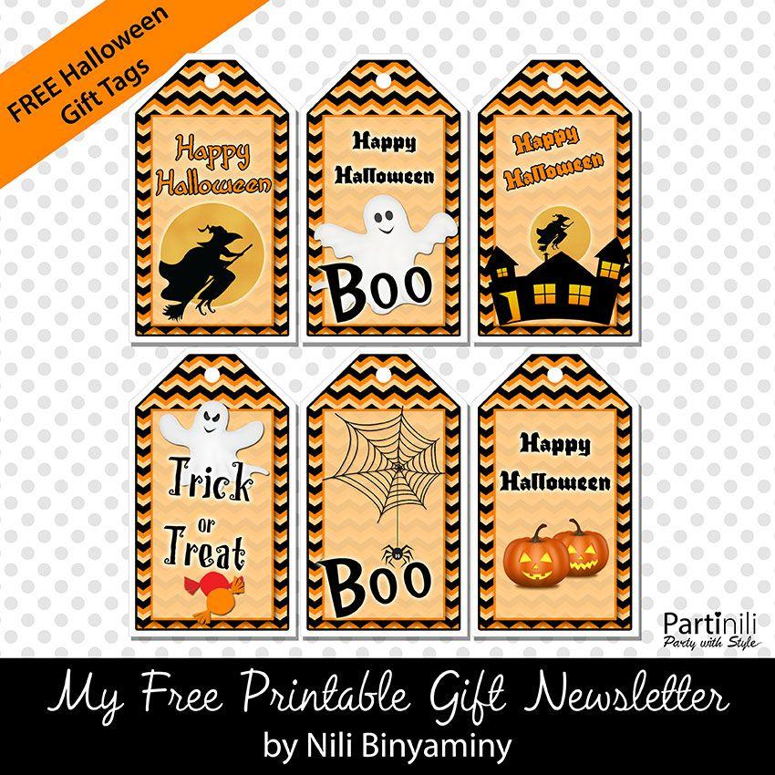 Boo-tiful Halloween Favor Tag Halloween Printable Halloween Party Gift Tag