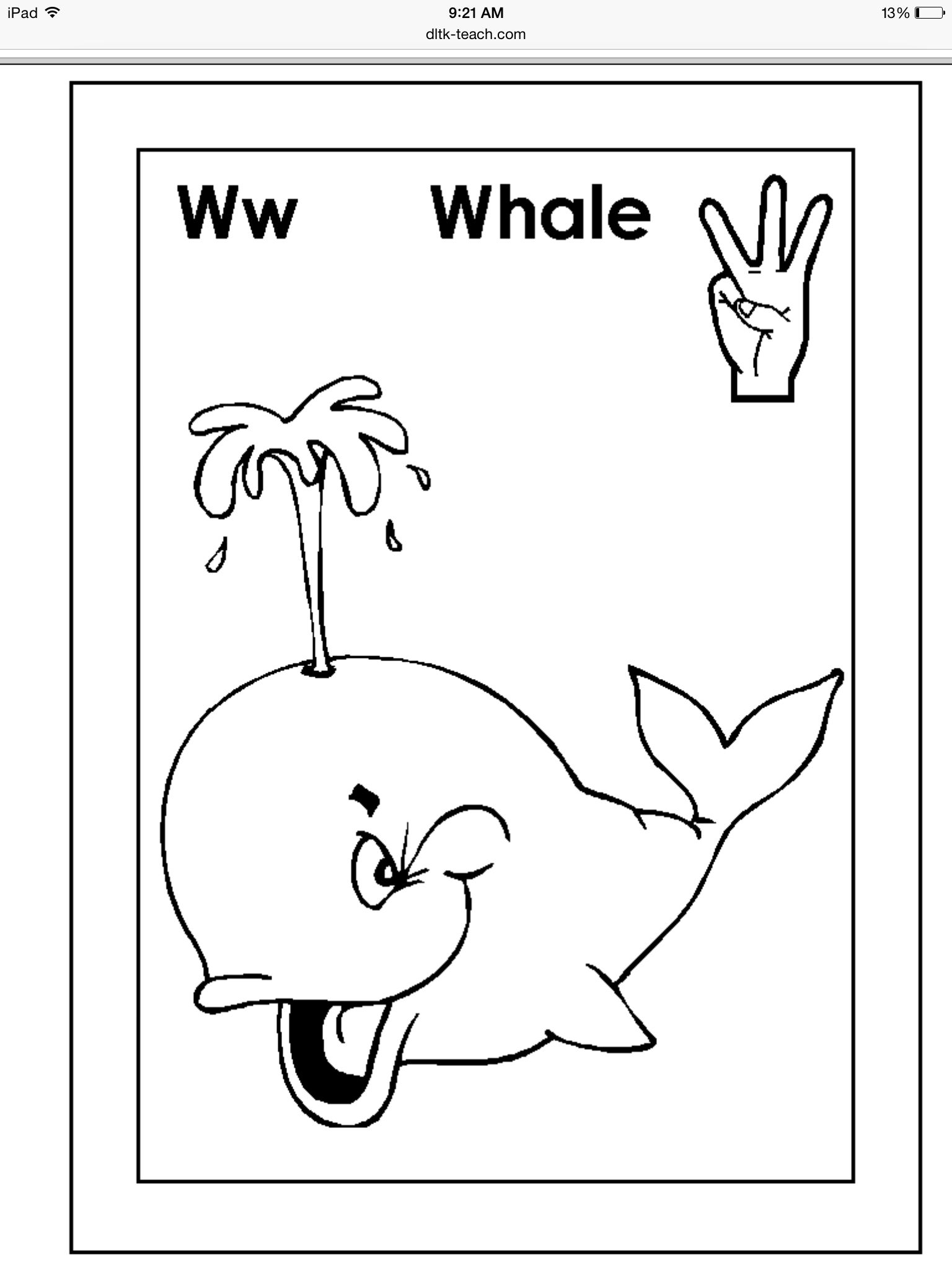 ASL coloring pages, great for an alphabet book for a baby shower ...