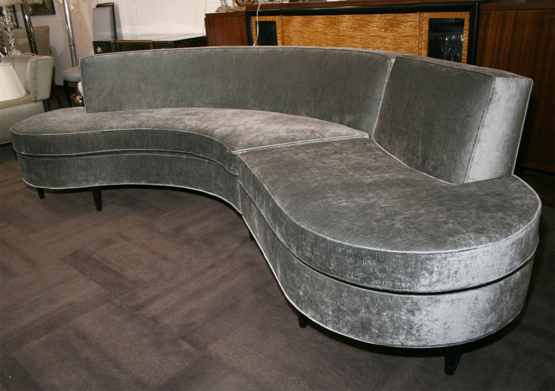 sofa couch brisbane blue furniture kidney shaped google search
