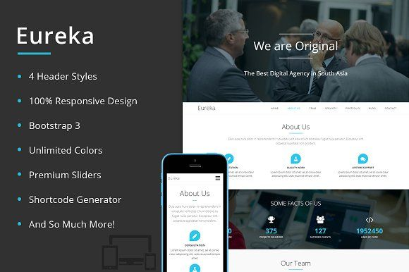 Eureka One Page Wordpress Theme First Page Wordpress Theme Eureka