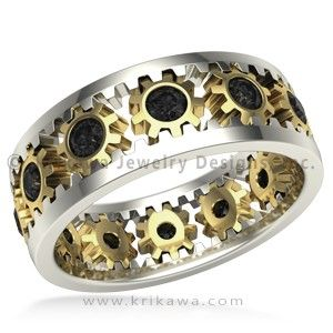 Rack Pinion Diamond Wedding Band This Mechanical Inspired Wedding Band Is A Work Of Art Twelve Pini Diamond Wedding Bands Wedding Bands Wedding Ring Bands
