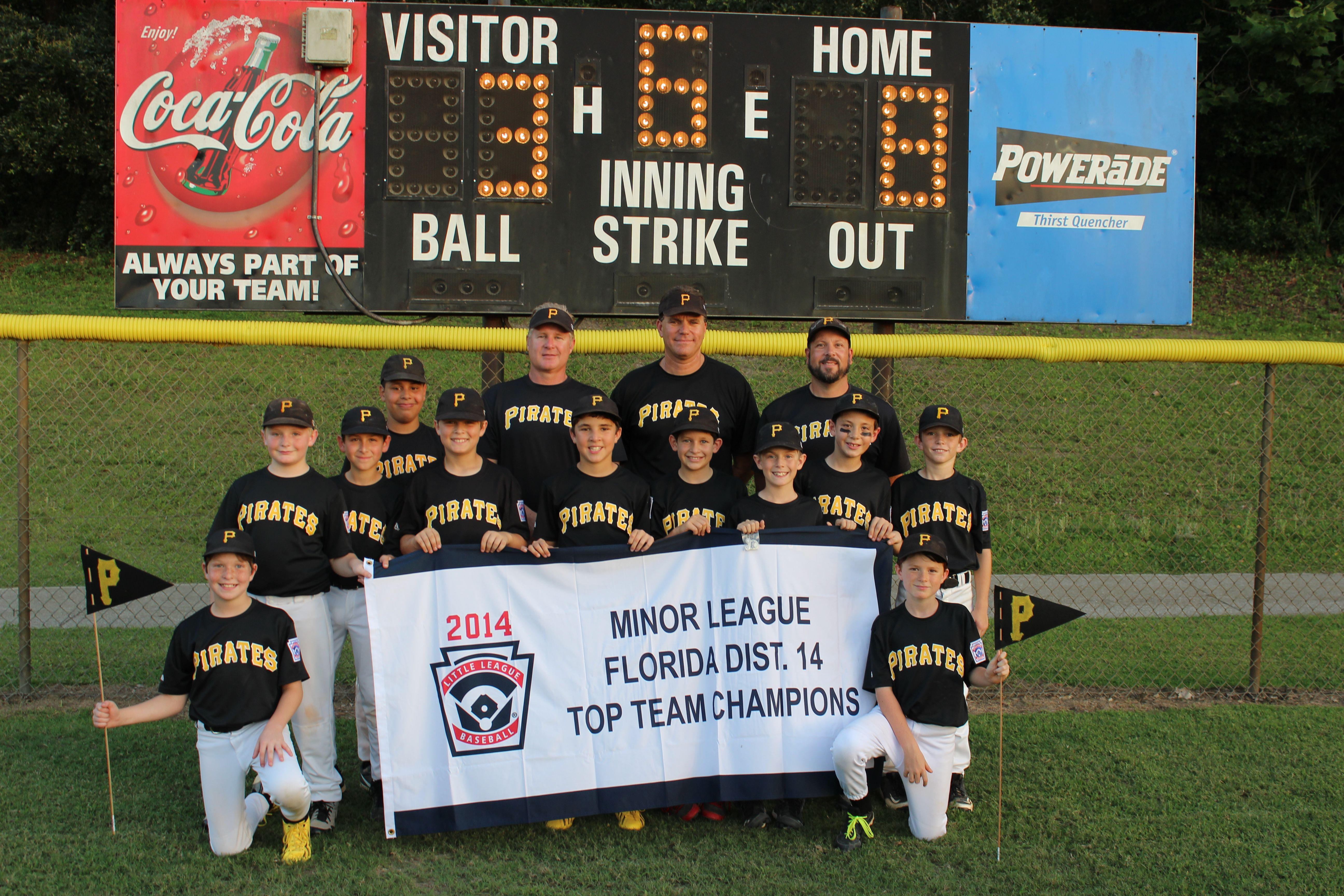 After Winning 2014 Aaa Top Team For The Windermere Little League Baseball Team The Wll Pirates Advanced To The Dis Little League Baseball Little League League