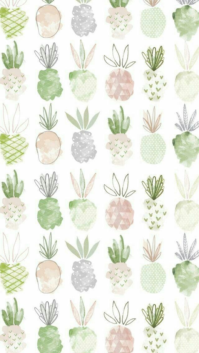 Pinapple illustrated wallpaper