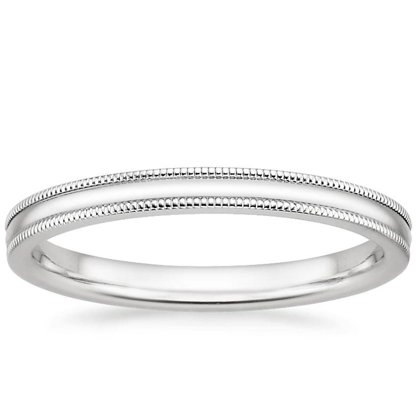His And Hers Wedding Bands Brilliant Earth Milgrain Wedding Ring Classic Wedding Rings White Gold Wedding Bands Women