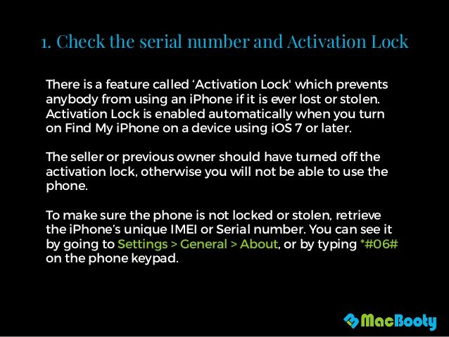 Want To Buy A Secondhand Iphone Here S How To Check If It Was Stolen The Mac Security Blog