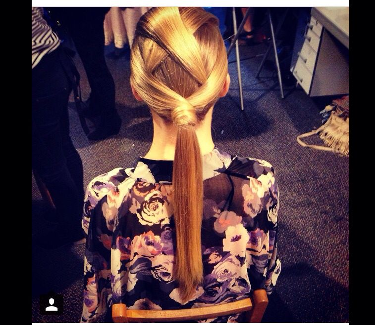 Fashion long hair cross over ponytail wrap
