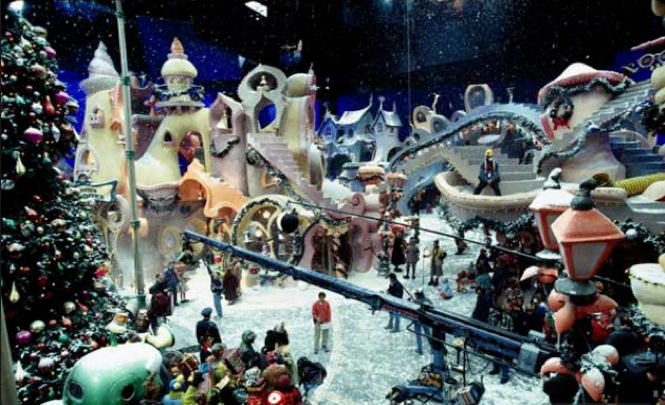 How The Grinch Stole Christmas Movie 2000.On The Set Of Dr Seuss How The Grinch Stole Christmas