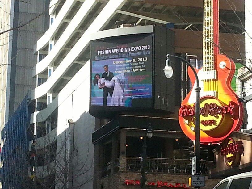 Billboard in downtown Atlanta! All 2014 brides to register