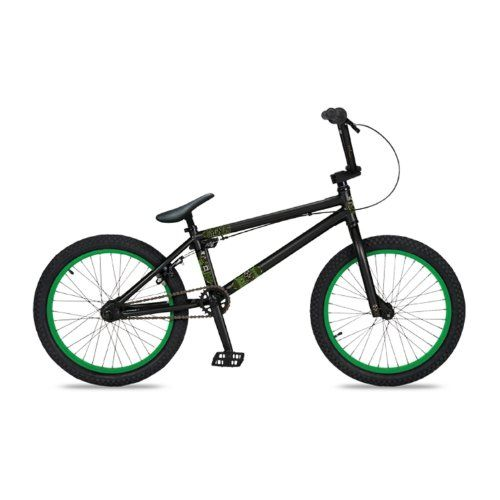 Dk Cygnus Bmx Bike With Green Rims Black 20 Inch Free Mini Tool Box Fs