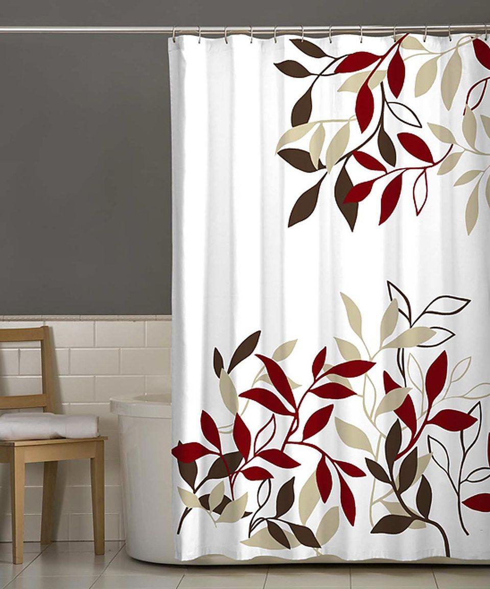 Red Satori Shower Curtain By Maytex Zulily Zulilyfinds With