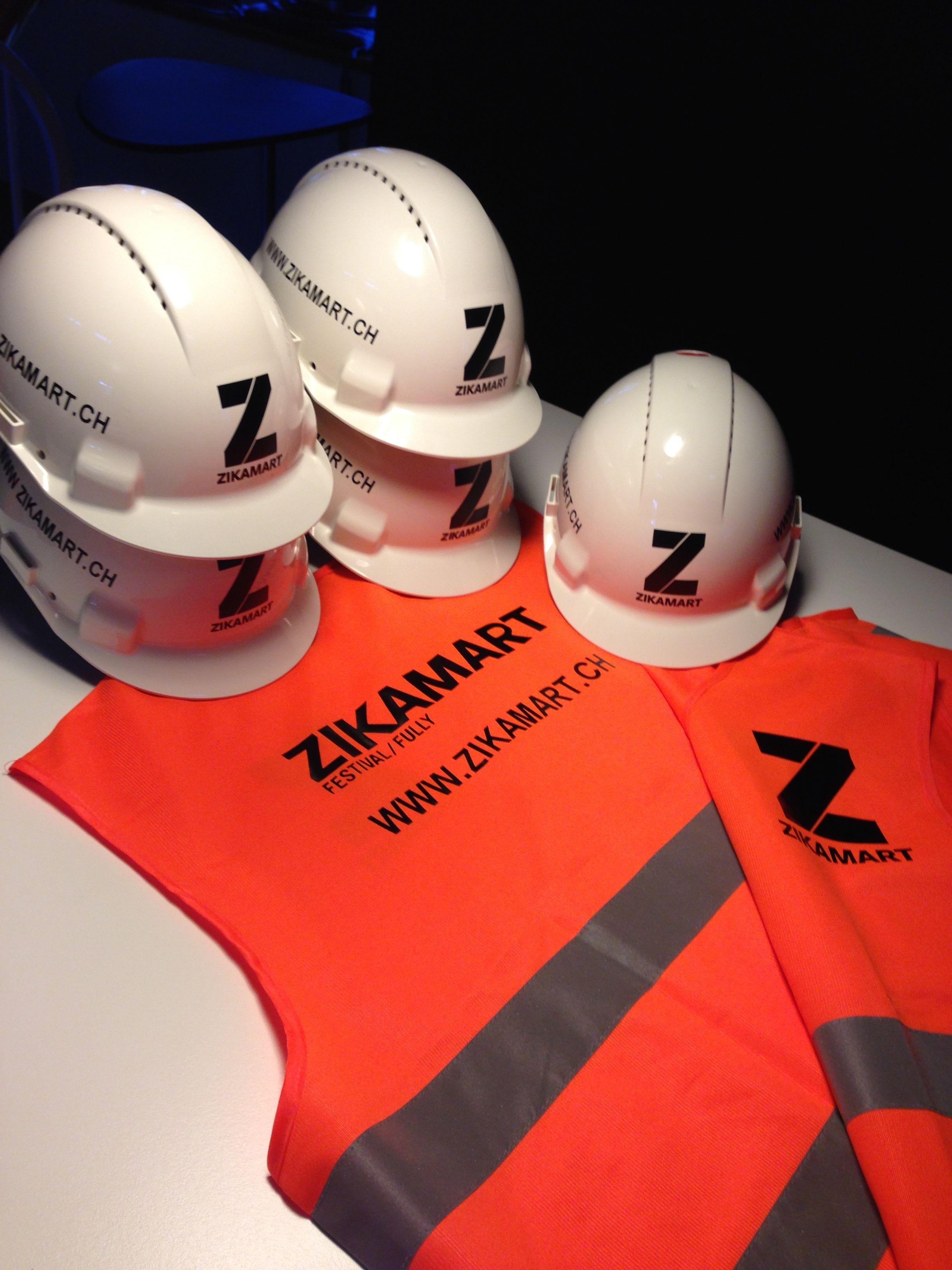 casques et gilets de protection pour le zikamart festival