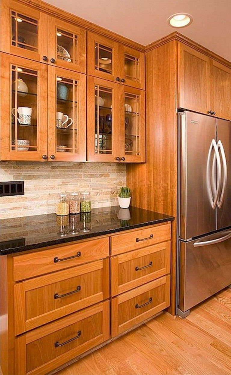 Get Inspired By Our Favorite Dark Medium And Light Wood Kitchen Cabinets Including Ideas For Oak Rustic Kitchen Cabinets Rustic Kitchen New Kitchen Cabinets