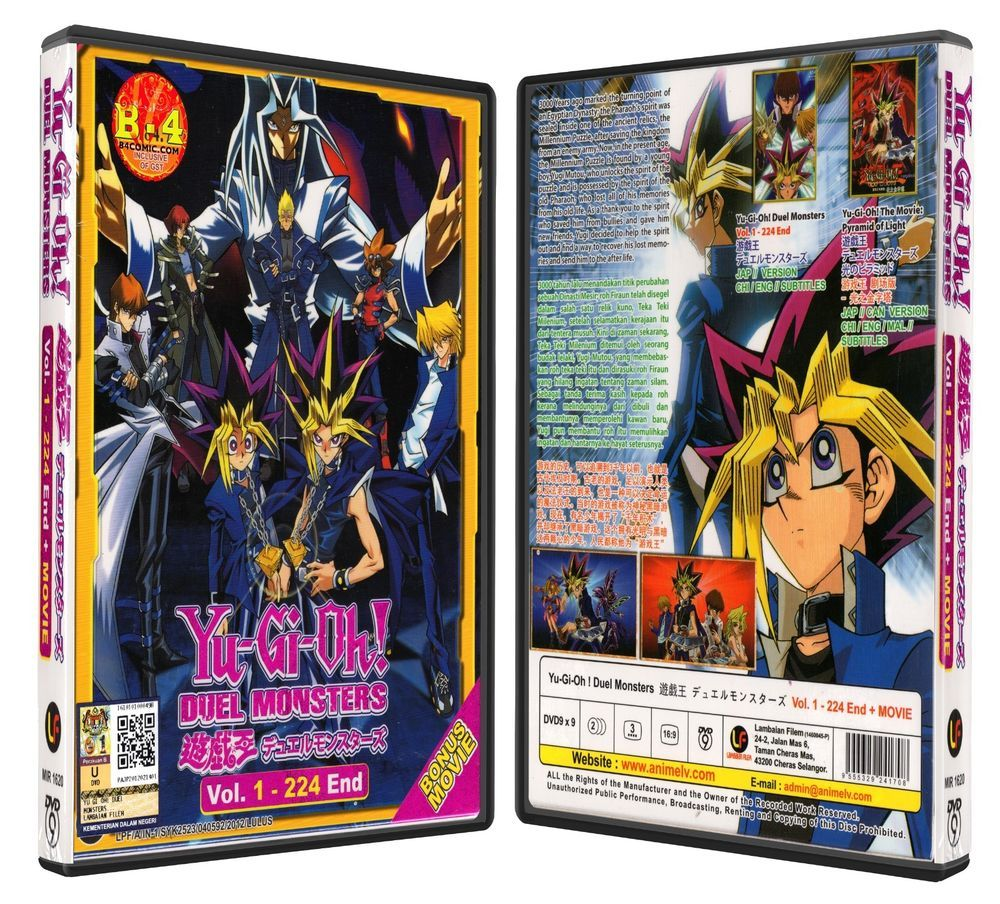 Yu gi oh duel monsters tv 1 224 end movie dvd box set