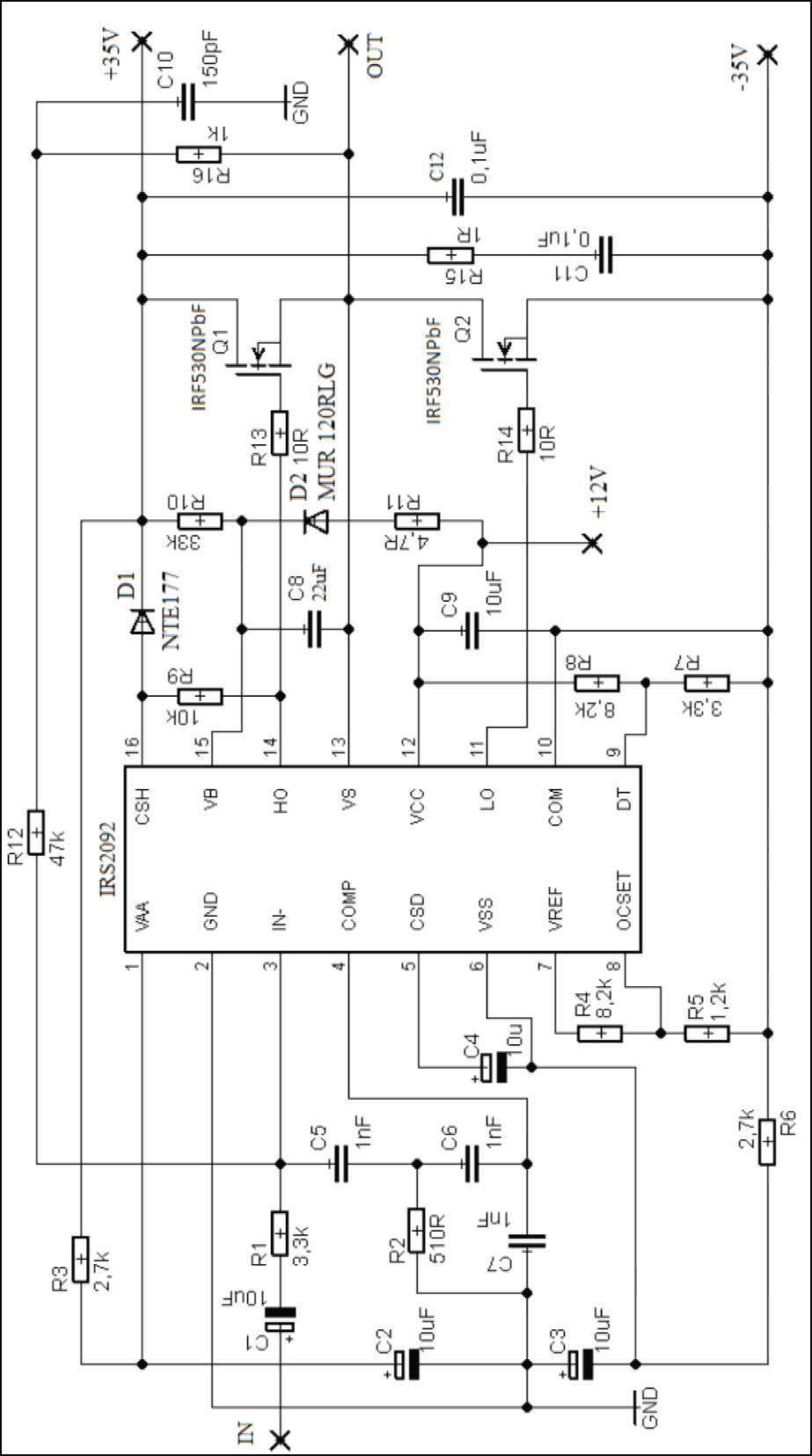irs2092-circuit-schematic.png (923×1655) (com imagens