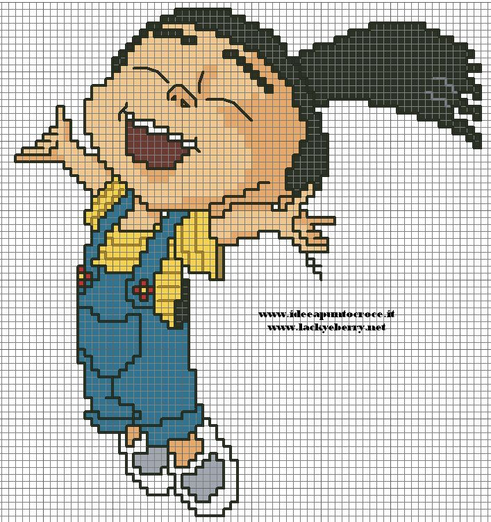 despicable me jumping agnes | Cross stitch patterns: cartoon ...