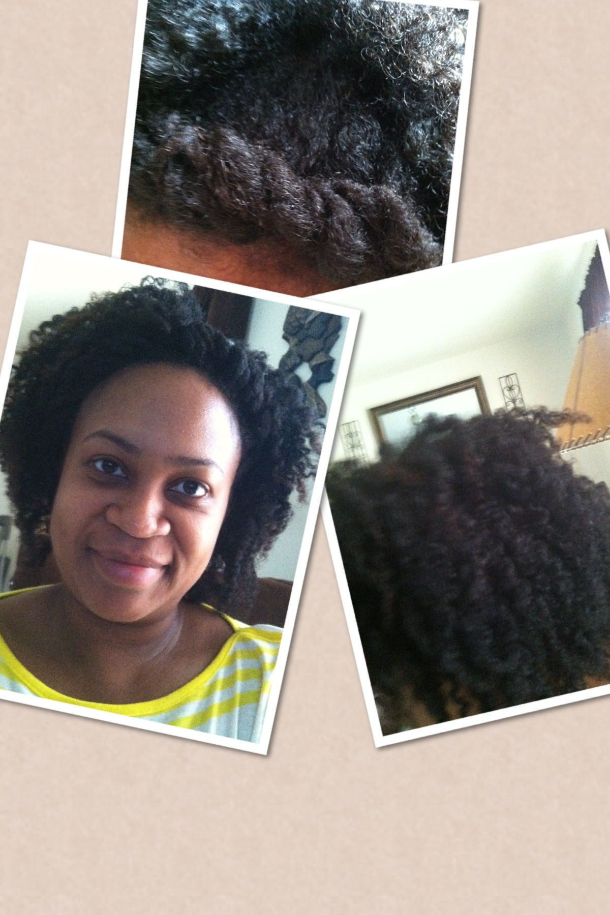 Twist out with a puffy flat twist