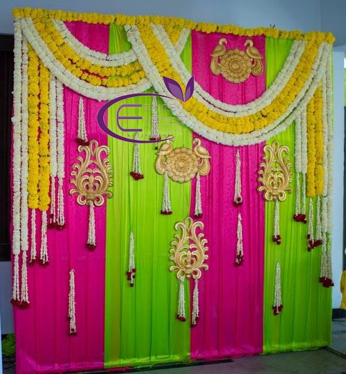 Pin By Hima Swathirao On Flower Decoration Indian Baby Shower Decorations Beautiful Wedding Decorations Home Wedding Decorations