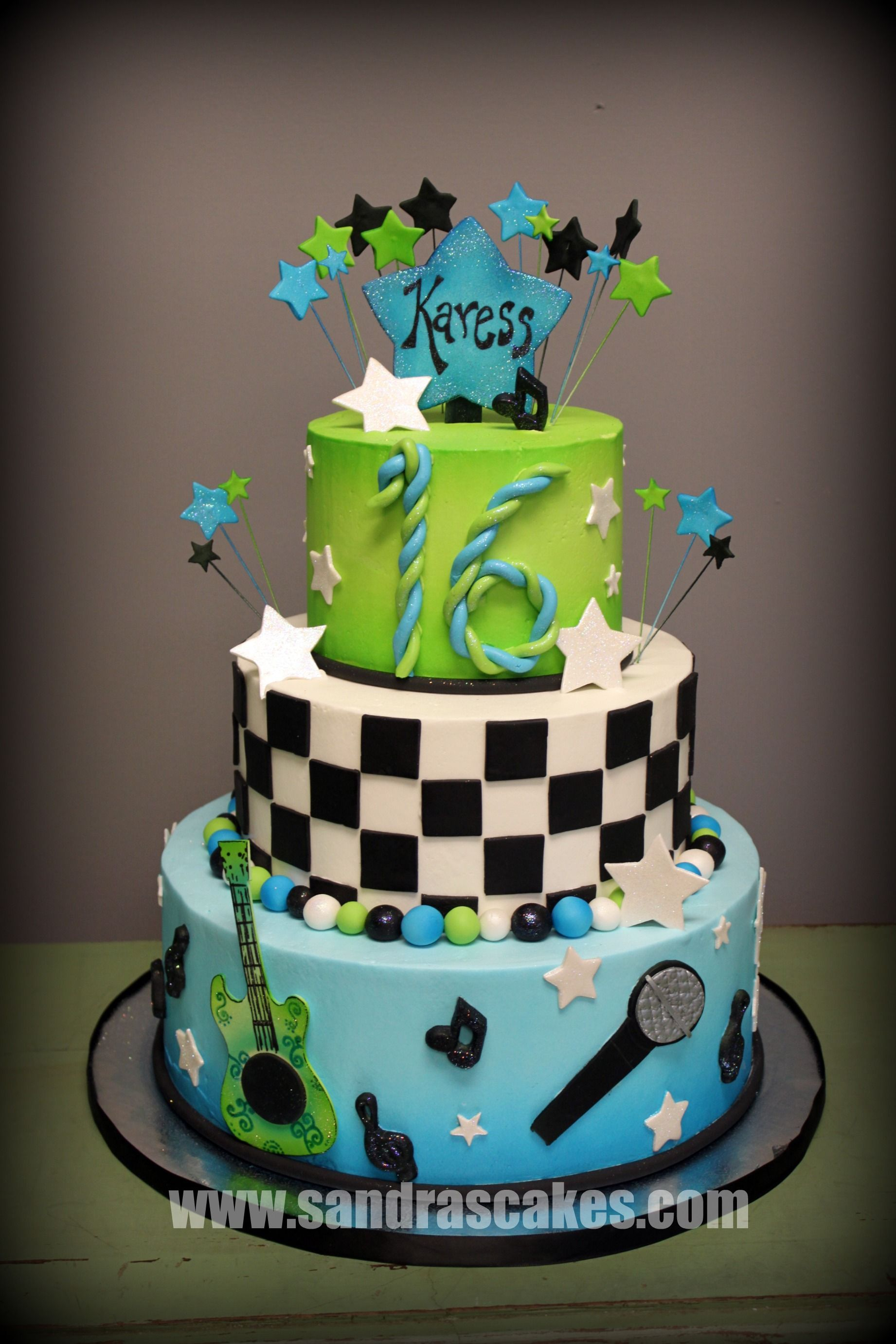 Rock Sweet Sixteen My Cakes Pinterest Sweet sixteen and Cake