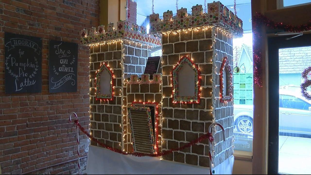 Gigantic gingerbread castle on display in