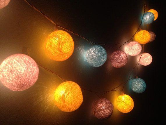 Cotton ball lights for home decorparty by Icandylighting on Etsy - schöne farben für schlafzimmer