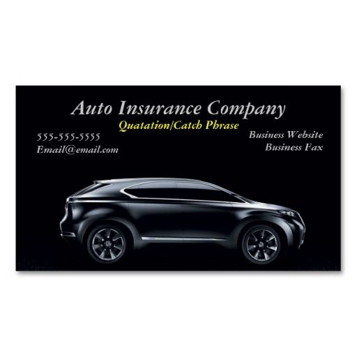 auto insurance business card | Zazzle.com | Car insurance ...