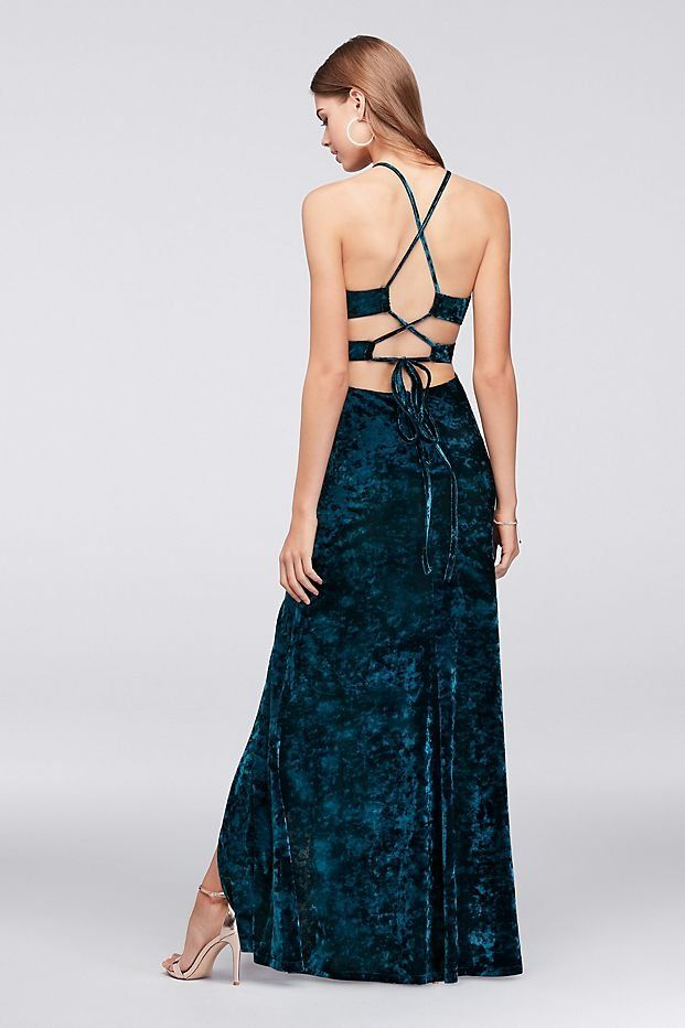 db02592c348 This teal strappy back prom dress is our Prom 2018 crush