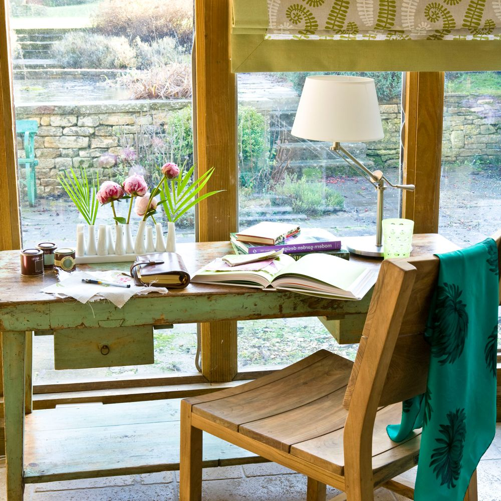 home office in kitchen. Small Conservatory With Home Office In Kitchen