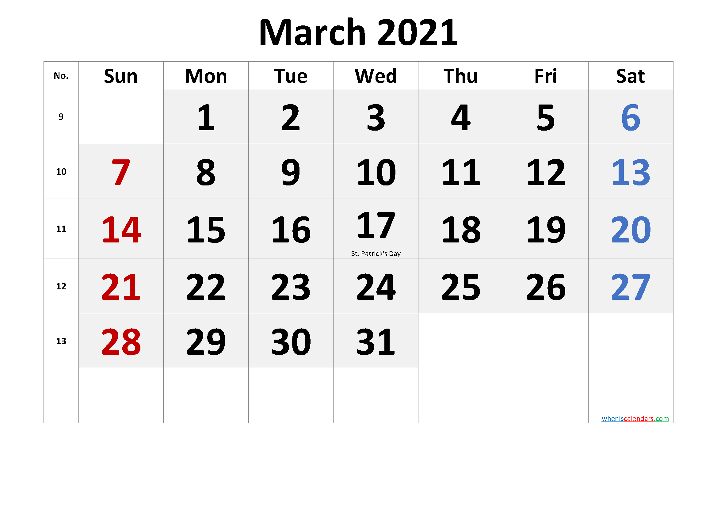 Free Printable March 2021 Calendar In 2020 Calendar Printables Printable Calendar Template March Free Printable Calendar