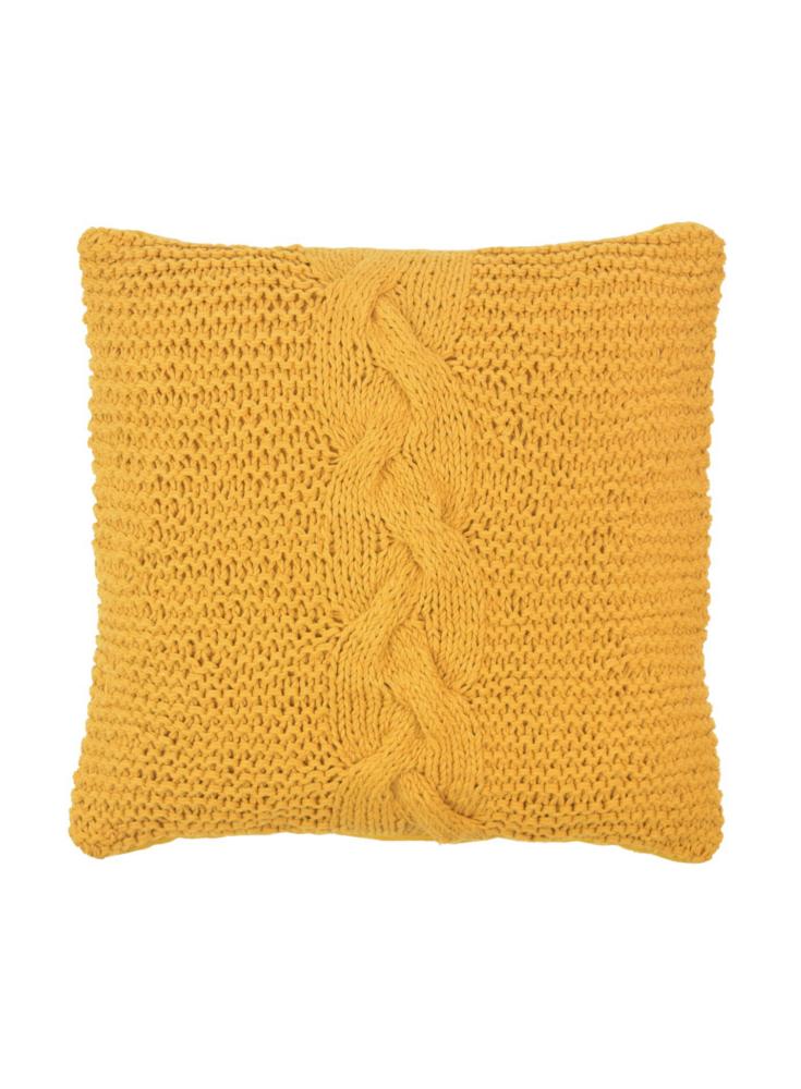 A Loja do Gato Preto | Capa de Almofada Tricot Amarelo #alojadogatopreto
