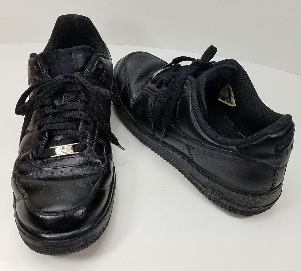 Men's Nike Air Force 1 AF-1 '82 Size 10 All Black Low Tops ...