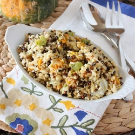 Roasted Vegetable Wild Rice Pilaf. The perfect easy side dish: Thyme Roasted Vegetable and Wild Rice Pilaf #vegetarian #recipes #easyricepilaf