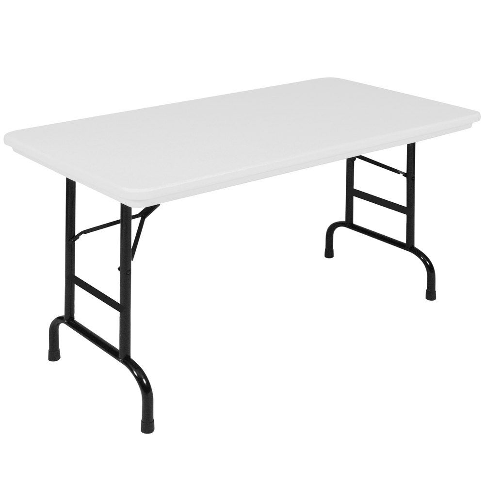 Correll Folding Table 24 X 48 Plastic Adjustable Height Gray R Series Ra2448 Folding Table Office Furniture Accessories Table
