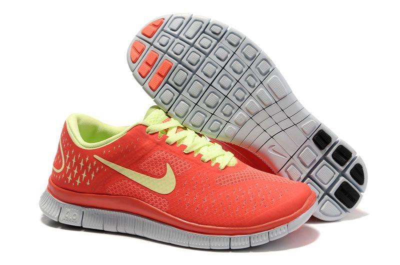 sports shoes 85ecc 3b2f3 Womens Red Yellow Nike Free 4.0 V2 Running Shoes Cheap  Sneakers 2014 for   Girls