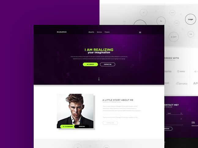 Personal Portfolio Website Theme Free Psd Web Design Pinterest