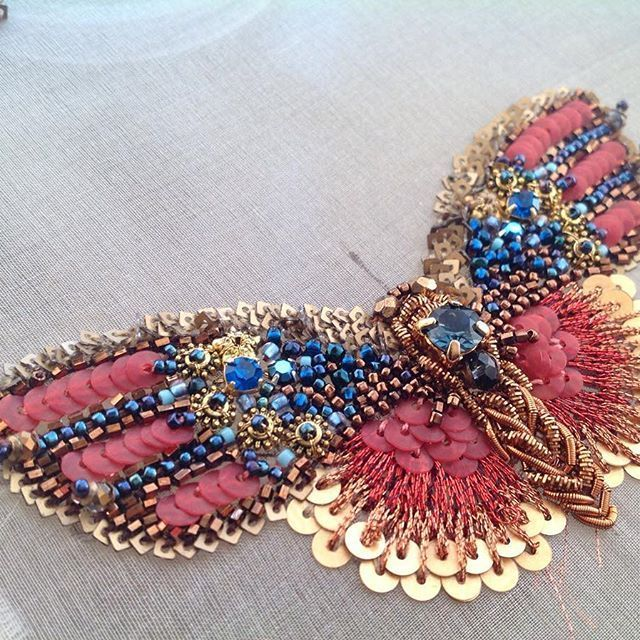 Butterfly Haute Couture Tambour Beading Embroidery Broas