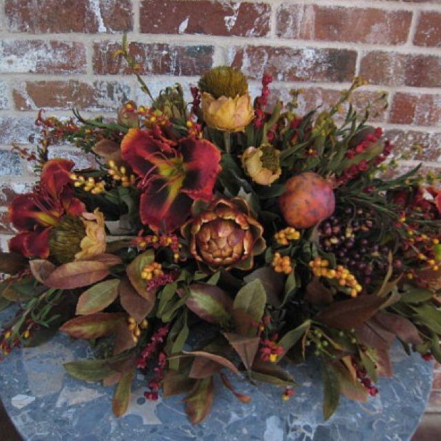 1000 Images About Tuscan Flower Arrangements On Pinterest Silk Floral Arrangements Floral