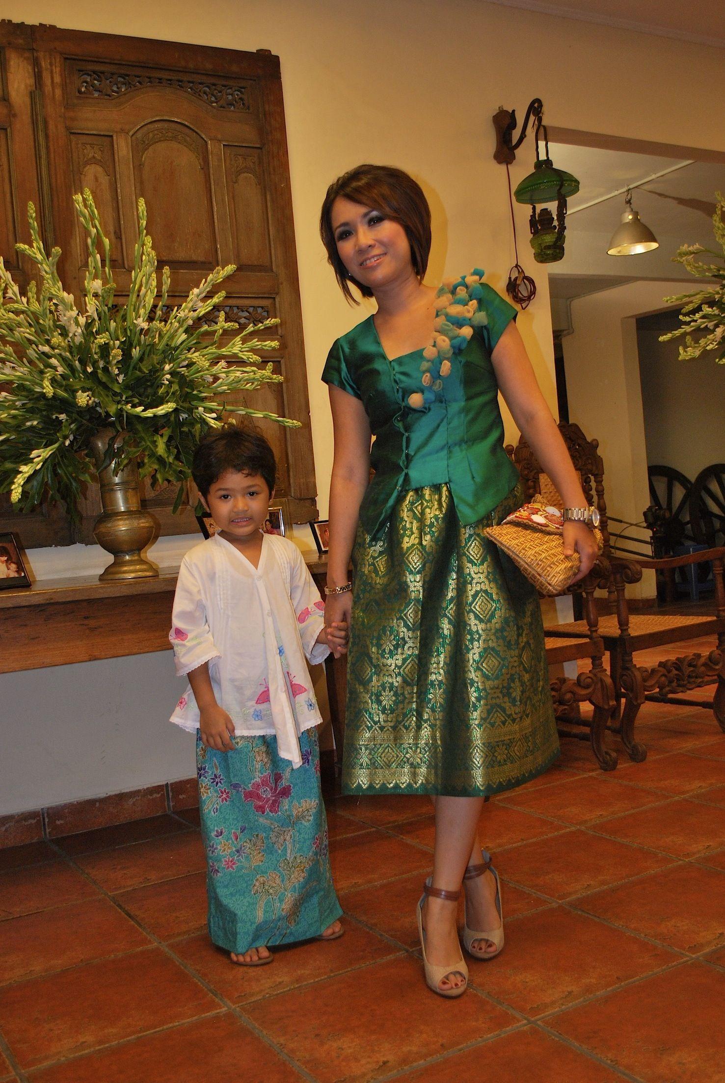 Green Songket Dress