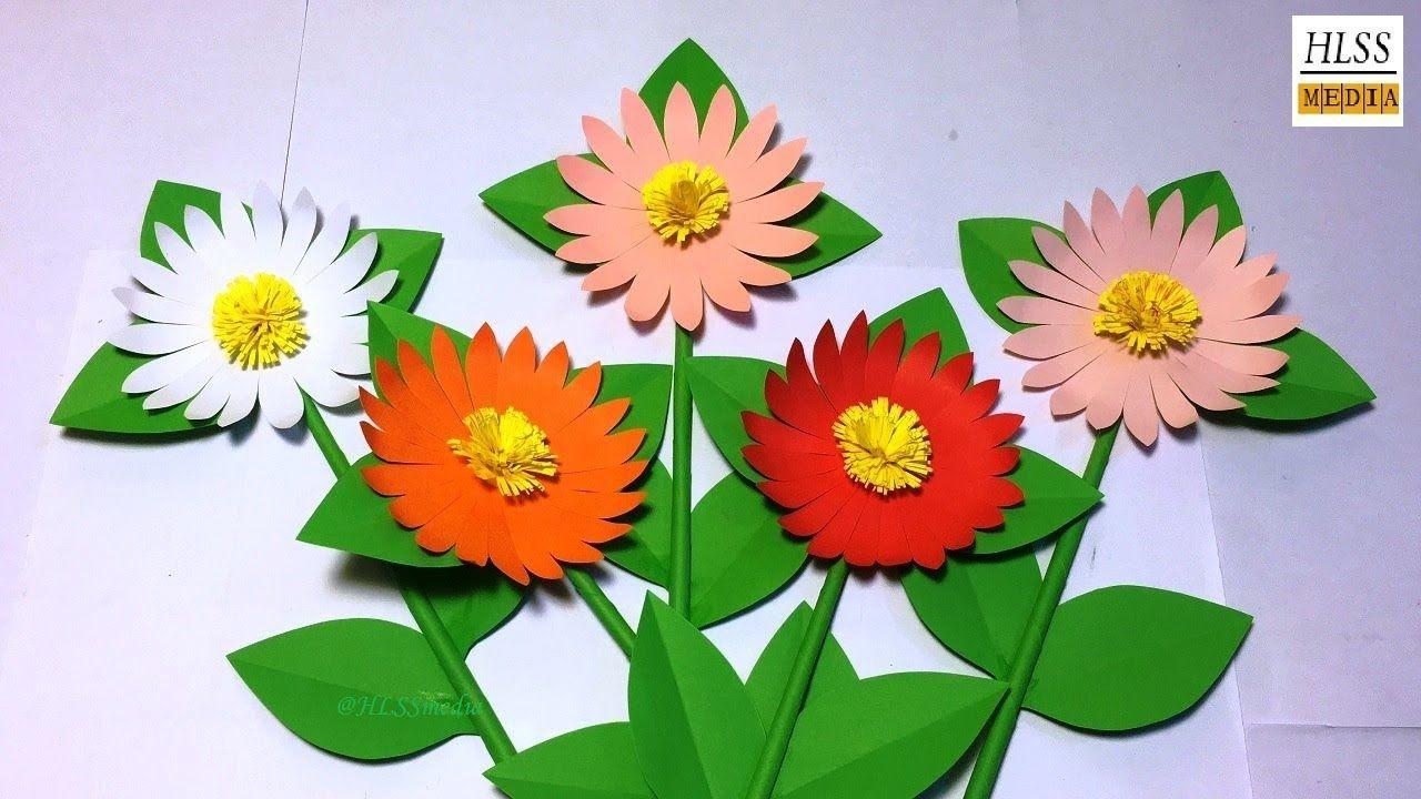 How To Make Daisy Paper Flower Diy Paper Flower Making Tutorials
