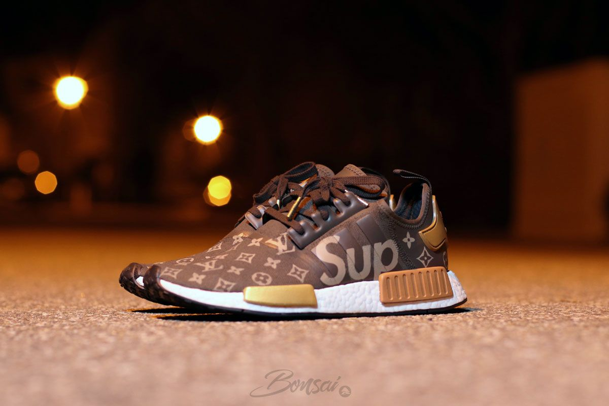 60326e7ea4ab6 Would You Wear This Supreme x Louis Vuitton x adidas NMD R1 Custom  via   thesolesupplier